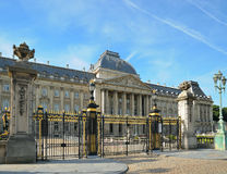 Royal Palace in center of Brussels Stock Image