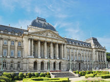 Royal Palace in center of Brussels Royalty Free Stock Image