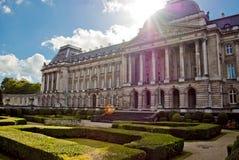 Royal Palace in centrum van Brussel Stock Afbeeldingen
