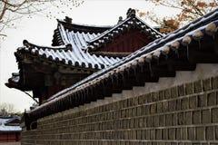 Royal Palace Changgyeonggung en el invierno, Seúl, Corea fotos de archivo
