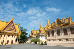 Royal Palace Compound, Phnom Penh, Cambodia. This image shows the Royal Palace Compound in Phnom Penh, Cambodia Stock Images