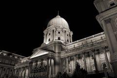 Royal palace cupola at night, budapest Stock Images
