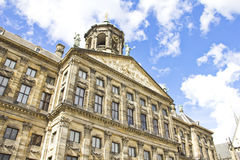 The Royal Palace in Dam, Amsterdam stock photos