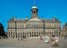 Royal palace on the Dam in Amsterdam Stock Photos