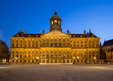 Royal Palace on the dam square in Amsterdam Stock Photography