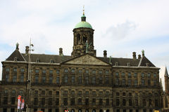 The Royal Palace on Dam Square in Amsterdam. Stock Photography