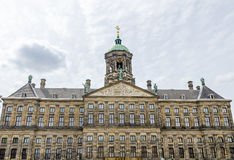 The Royal Palace at the Dam Square in Amsterdam Stock Photo