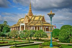 Royal Palace dans Phnom Pehn la capitale du Cambodge Images libres de droits
