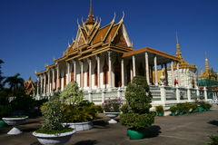 Royal Palace dans Phnom Penh Cambodge Photo stock
