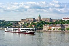 Royal palace and Danube river, Budapest, Hungary stock images