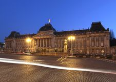Royal Palace de Bruxelas, Bélgica. Fotografia de Stock Royalty Free