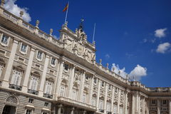 Royal Palace de Madrid imagem de stock royalty free
