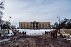 Royal Palace de Oslo, Noruega imágenes de archivo libres de regalías