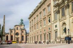 Royal Palace de Suecia Foto de archivo libre de regalías