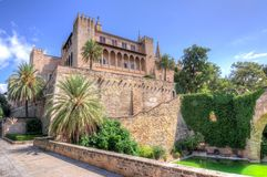 Royal Palace di La Almudaina, Mallorca, Balearic Island, Spagna immagine stock libera da diritti