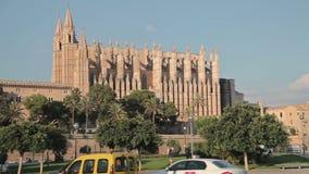 Royal Palace di La Almudaina Palma de Mallorca video d archivio