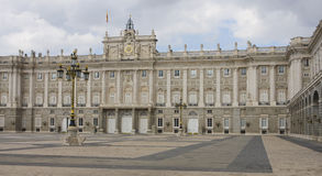 Royal Palace di Madrid Fotografia Stock