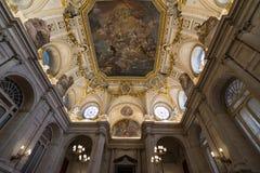 Royal Palace di Madrid, interno Fotografia Stock Libera da Diritti