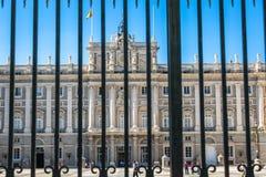 Royal Palace di Madrid Palacio de reale Madrid, funzionario r Immagine Stock