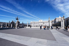 Royal Palace di Madrid, Spagna Fotografia Stock