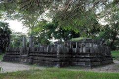 Royal Palace di re Parakramabahu nella città Polonnaruwa del patrimonio mondiale Fotografie Stock