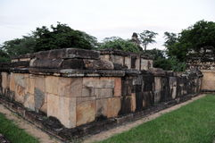 Royal Palace di re Parakramabahu nella città Polonnaruwa del patrimonio mondiale Immagine Stock Libera da Diritti