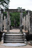 Royal Palace di re Parakramabahu nella città Polonnaruwa del patrimonio mondiale Fotografia Stock Libera da Diritti