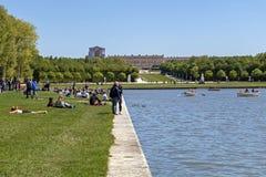 Royal Palace di Versailles, del monumento storico e del sito del patrimonio mondiale dell'Unesco fotografia stock