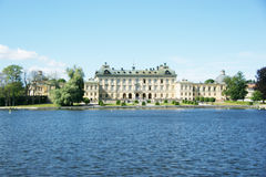 Royal Palace of Drottningholm. Seen by the sea, near Stockholm, Sweden Stock Photos