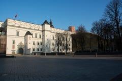 Royal Palace e monte de Gediminas imagens de stock