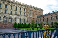 Royal Palace eastern facade Stockholms slott, Stockholm, Sweden royalty free stock images