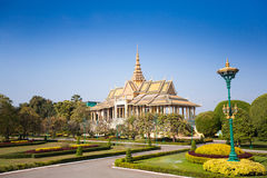 Royal Palace em Phnom Penh Fotografia de Stock Royalty Free