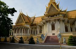 Royal Palace em Phnom Penh Foto de Stock Royalty Free