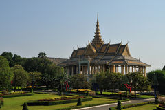 Royal Palace em Pnom Penh foto de stock royalty free