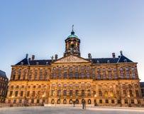 Royal Palace en Amsterdam, Países Bajos Fotografía de archivo libre de regalías