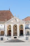 Royal Palace en la universidad de Coímbra, Portugal Fotografía de archivo libre de regalías