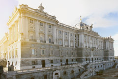 Royal Palace en Madrid Fotos de archivo libres de regalías
