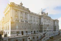 Royal Palace en Madrid Fotos de archivo libres de regalías