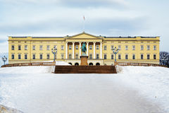 Royal Palace en Oslo Imagen de archivo libre de regalías