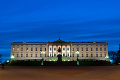 Royal Palace en Oslo Fotografía de archivo
