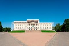 Royal Palace en Oslo Noruega Fotografía de archivo