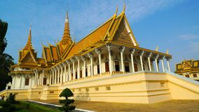 Royal Palace en Phnom Penh Fotos de archivo