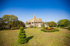 Royal Palace en Phnom Penh Fotografía de archivo