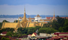 Royal Palace en Pnom Penh Fotografía de archivo