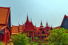 Royal Palace Pnom Penh, Exterior of the National Museum. Cambodi Royalty Free Stock Photos