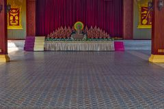 Royal Palace floor from marble colour natural stone background P. Royal Palace exterior in Phnom Penh floor from marble colour natural stone background, Cambodia Royalty Free Stock Images