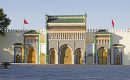Royal Palace. The Royal Palace in Fes, Morocco. This palace is frequently used by King Mohammed VI of Morocco Stock Photography