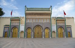 Royal Palace in Fez Royalty Free Stock Photo