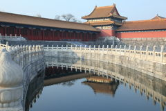 The royal palace, Forbidden City in Beijing Royalty Free Stock Photos