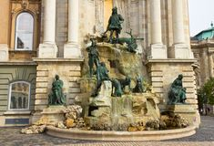 Royal Palace Fountain Royalty Free Stock Image
